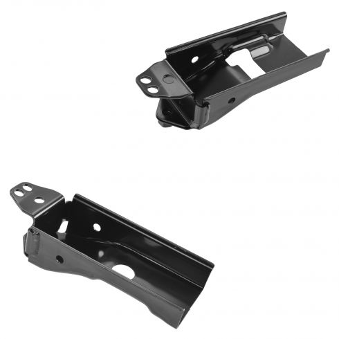 04-07 Malibu New Body; 05-10 G6; 07-09 Aura Lower Steel Radiator Support Bracket Pair (GM)