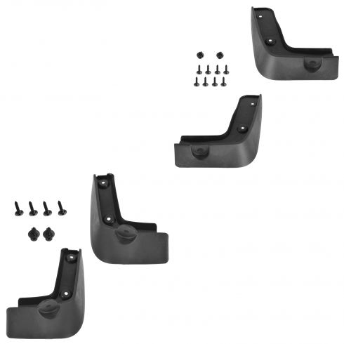 15-16 Hyundai Genesis Sedan Molded Black Plastic Front & Rear Splash Guard Set of 4 (Hyundai)