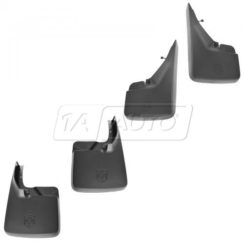 09-12 Dodge Ram 1500; 10-12 2500, 3500 (exc DRW) Front & Rear Deluxe Splash Guard (Set of 4) (MOPAR)