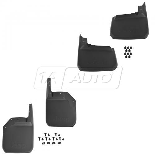 07-15 Jeep Wrangler (2 or 4dr) Front & Rear Deluxe Molded Splash Guard (Set of 4) (Mopar)