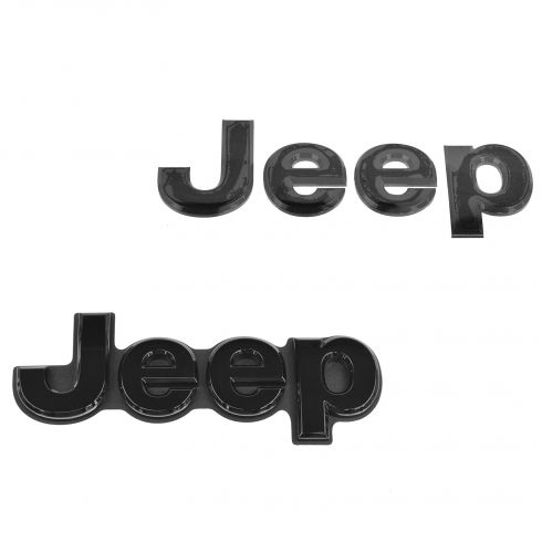 11-15 Grand Cherokee Hood and Tailgate Mounted Black JEEP Adhesive Nameplate Emblem (Mopar)