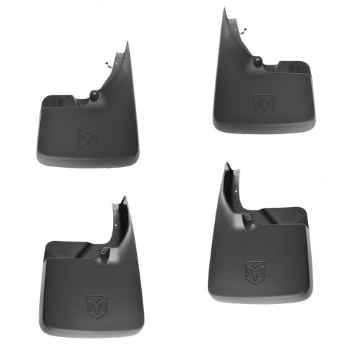 09-12 Dodge Ram 1500; 10-12 2500, 3500 (exc DRW) Front & Rear Molded Splash Guard (Set of 4) (MOPAR)