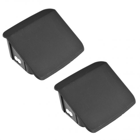97-06 Jeep Wrangler Front Bumper Mounted Textured Black Plastic End Cap Pair (Mopar)