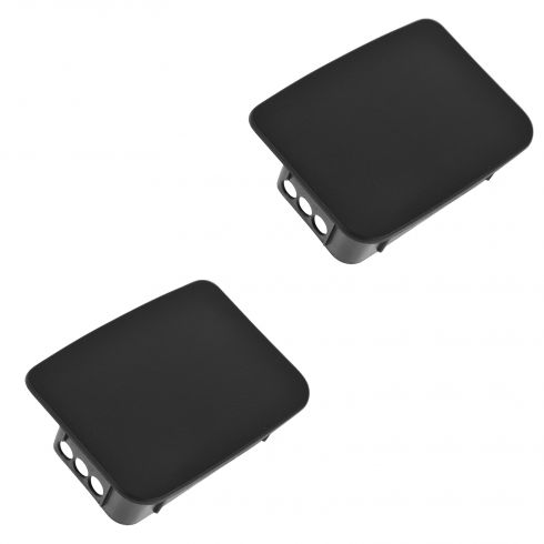 97-06 Jeep Wrangler Rear Bumper Mounted Textured Black Plastic End Cap Pair (Mopar)