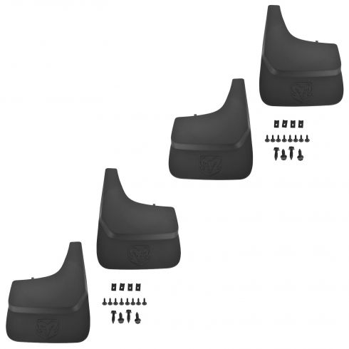 02-08 Dodge Ram 1500; 03-09 2500 Front & Rear Splash Guards Mud Flaps (Set of 4) (Mopar)