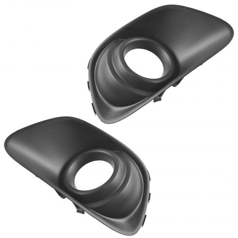 11-15 Jeep Compass Lwr Frt Bpr Mtd Molded Black Plastic Fog Light Bezel (w/o Chrm Trim) Pair(Mopar)