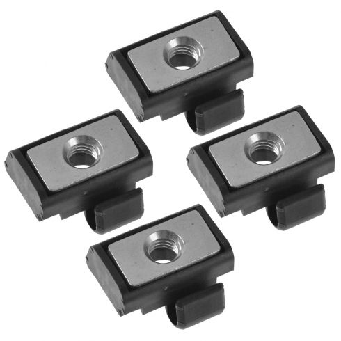 97-06 Wrangler Hard Top Front or Rear Roof Side Retainer/Fastener Square Block Nut Set of 4(Mopar)