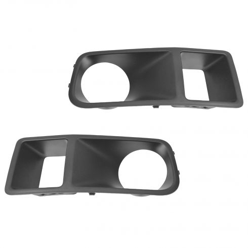 05-07 Dodge Magnum SRT8; Charger SRT8 Molded Black Plastic Driving Fog Light Bezel Pair (Mopar)