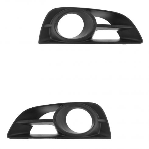 10-13 Nissan Altima Coupe Front Bumper Mounted Fog/Driving Light Bezel Pair (Nissan)
