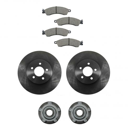 99-04 Ford Mustang Cobra, Mach 1 Front Hubs, Ceramic Brake Pads, Brake Rotors Kit