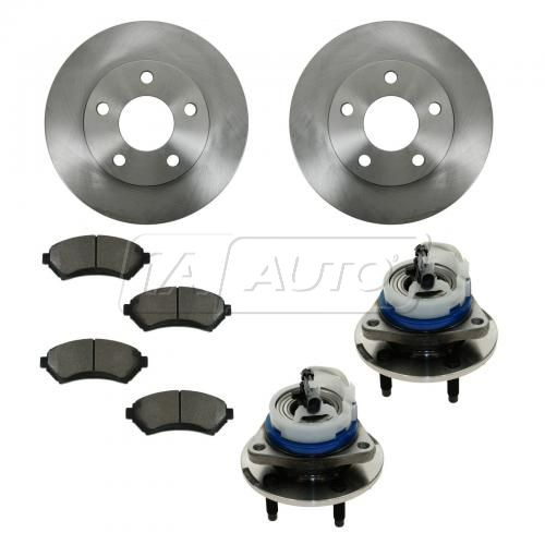 01-05 GM Multifit Front Hubs, Ceramic Brake Pads, Brake Rotors Kit