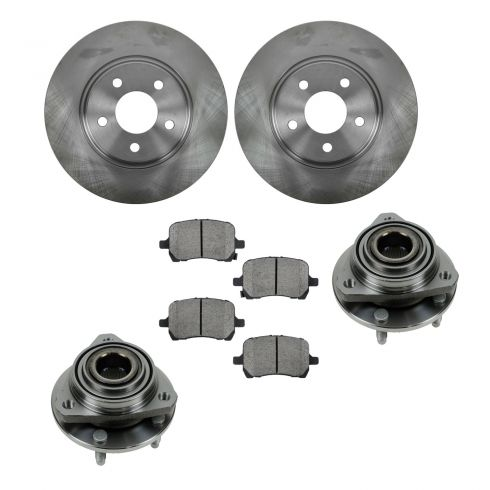 04-06 Malibu; 06 Malibu Maxx, G6 Front Hubs, Ceramic Brake Pads, Full Cast Brake Rotors Kit