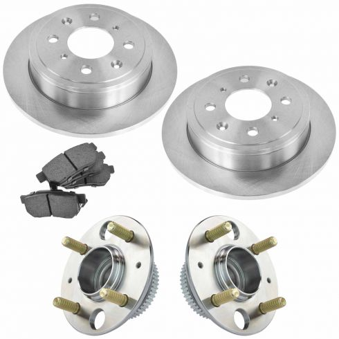 90-01 Acura, Honda Multifit Front Hubs, Ceramic Brake Pads, Brake Rotors Kit
