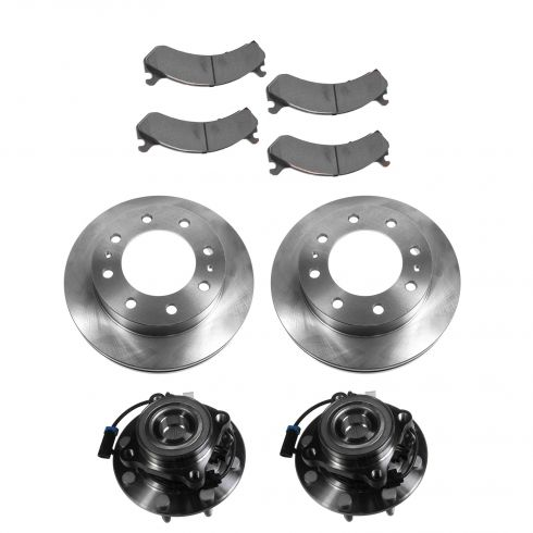 01-07 Chevy GMC Front Hubs, Ceramic Brake Pads, Brake Rotors Kit