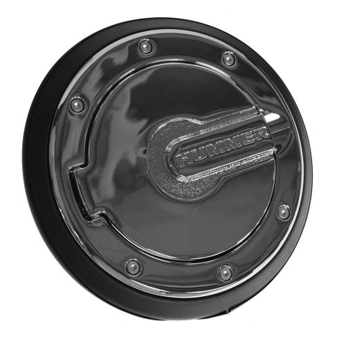 06-10 Hummer H3 Chrome Fuel Door/Gas Cap Cover w/Install Kit (GM)