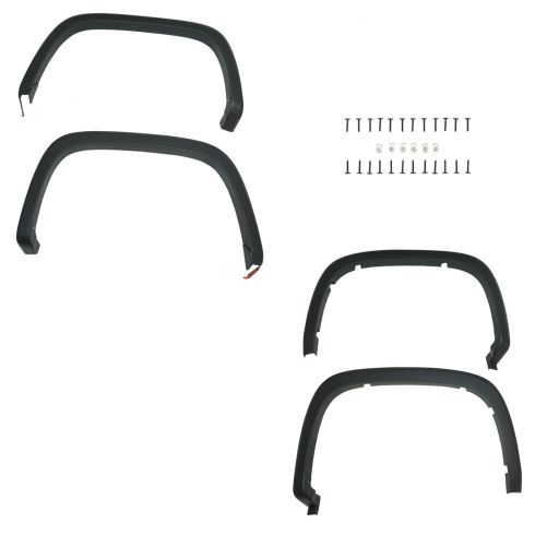 2015 Chevy Colorado Front & Rear Molded Black Fender Flare Upgrade Kit (Set of 4) (GM)