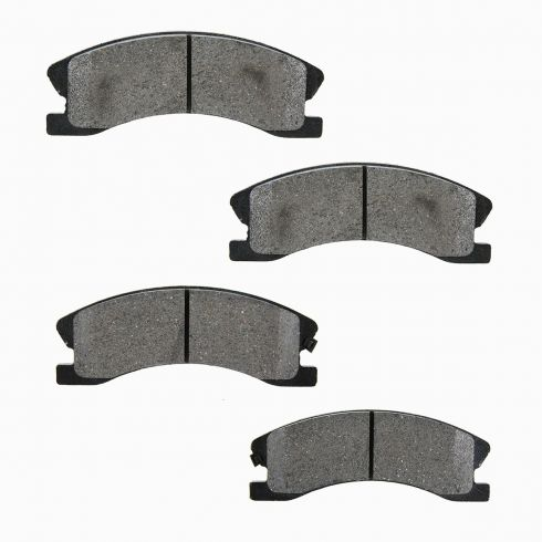 02-04 Jeep Grand Cherokee Brake Pads Front for Akebono Calipers (Silver)