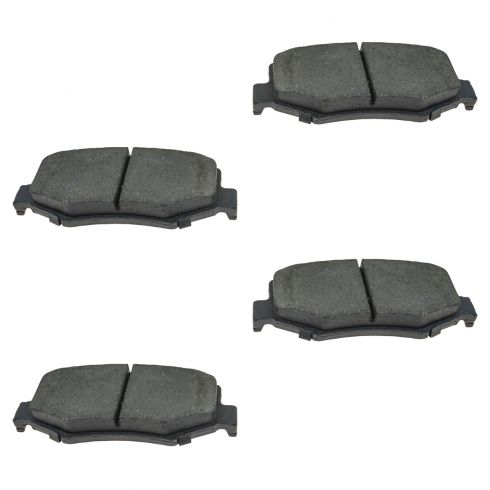 07-11 Dodge Nitro; 08-12 Jeep Liberty; 07-11 Wrangler Ceramic Rear Disc Brake Pads (CD1274)