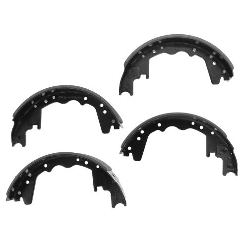81-93 Dodge W350; 68-99 Ford; 68-75 Intl; 74-83 Plymth PB Van (12x3 in) Rear Brake Shoe Set (S314)