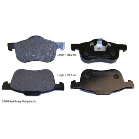 01-09 Volvo S60; 99-06 S80; 01-07 V70; 03-07 XC70 Front OE Mintex Disc Brake Pad Set
