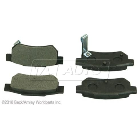 90-01 Integra; 92-00 Civic; 93-97 Del Sol; 90-91 CRX; 88-91 Prelude Rear OE Nissin Disc Brk Pad Set