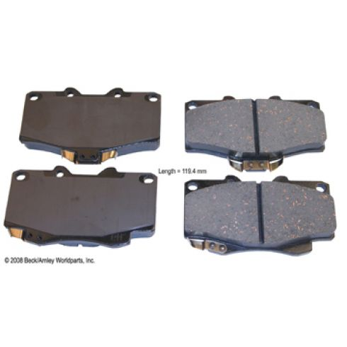 95-04 Toyota Tacoma 4WD Front OE Advics Disc Brake Pad Set