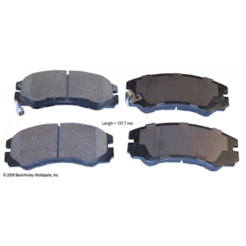 96-99 Acura SLX; 94-01 Honda Passport; 92-02 Isuzu Multifit Front OE Advics Disc Brake Pad Set
