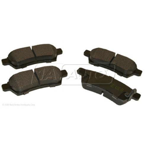 05-11 Nissan Frontier, Xterra; 09-10 Suzuki Equator Rear OE Hitachi Disc Brake Pad Set