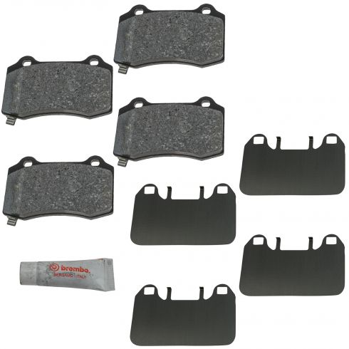 05-10 Charger, 300; 05-08 Magnum; 08-11 Challenger SRT8 Brembo Rear Disc Brake Pad Set (Mopar)