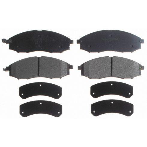 Raybestos Service Grade Disc Brake Pads - Semi-Metallic - Front SGD830M