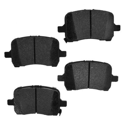 Front Element 3 Hybrid Disc Brake Pads w/ HW (Raybestos EHT1160H)