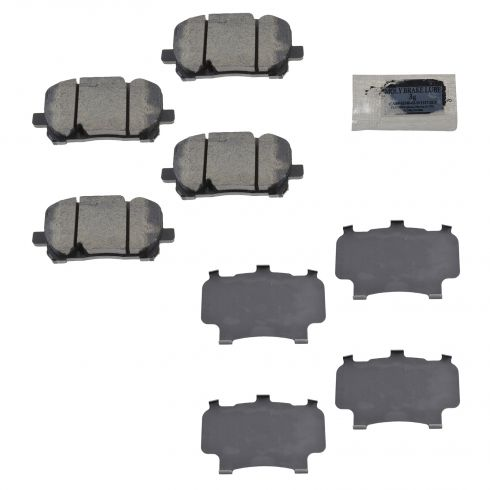 03-08 Toyota Corolla, Matrix Front Disc Brake Pads w/Shims Kit (Toyota)