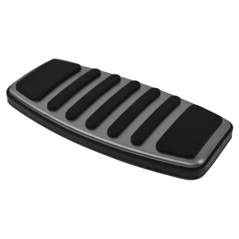 73-08 F150; 73-10 F250SD-F550SD w/AT Harley Davidson Style Chr & Rubber Brake Pedal Pad Cover (Ford)