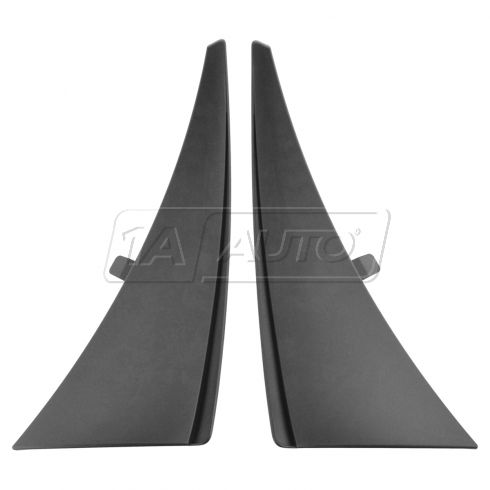 14-15 Chevy Corvette Stingray Molded Black Plastic Front Splash Guard Mud Flap PAIR (GM)