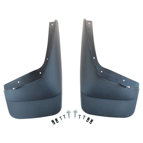 07-13 Sierra 1500; 07-14 2500, 3500 NB Mld Blk Contoured Plastic Front Splash Guard Mud Flap PR (GM)