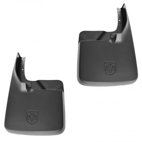 09-12 Dodge Ram 1500; 10-12 2500, 3500 (exc DRW) Rear Molded Splash Guard SET (MOPAR)