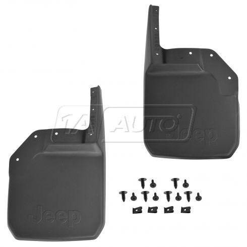 07-15 Jeep Wrangler (2 or 4dr) Front Deluxe Molded Splash Guard PAIR (Mopar)
