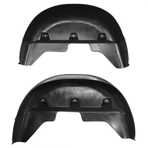 02-08 Dodge Ram 1500; 02-09 2500, 3500 Black Plastic Molded Rear Wheel Well Liner PAIR (Mopar)