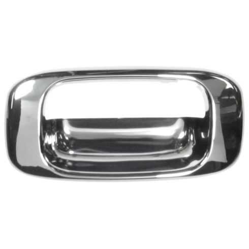 99-07 Chevy Silverado GMC Sierra; Chrome Tailgate Handle Bezel