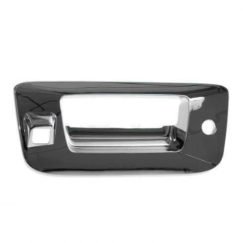 07-13 Silverado, Sierra New Body ALL CHROME Tailgate Handle Bezel (w/Keyhole & w/Camera Hole)