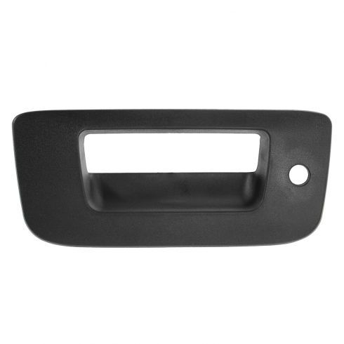 07-13 Silverado, Sierra New Body Textured Black Tailgate Handle Bezel (w/Keyhole)