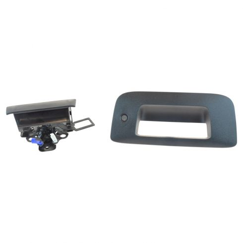 07-13 Silverado, GMC Sierra New Body Textured Black Tailgate Handle, Codeable Lock, & Bezel Kit (GM)