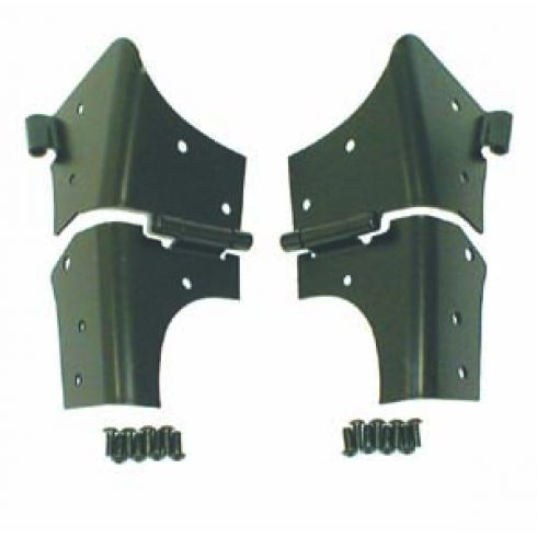 Windshield Hinges, Black, 97-06 Jeep Wrangler