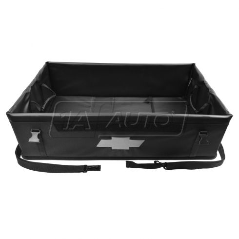11-15 Camaro, Equinox; Chvy Multifit Blk Collapsible Cargo Area Organizer w/Gold ~Bowtie~ Logo (GM)