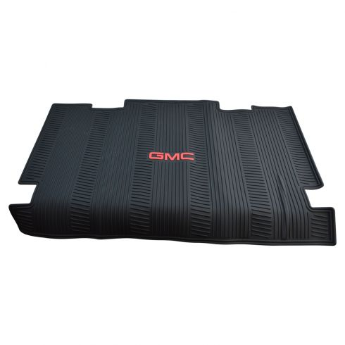 07-14 GMC Yukon XL w/3rd Row Seat Molded Ebony Rubber ~GMC~ Logoed All Weather Cargo Mat (GM)