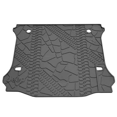 07-14 Jeep Wrangler 4 Door Unlimited Rear Cargo/Tray Molded Black Rubber Slush Floor Mat (MOPAR)
