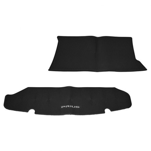 10-14 Toyota Prius Black Rubber All Weather Rear Cargo Mat (Toyota)