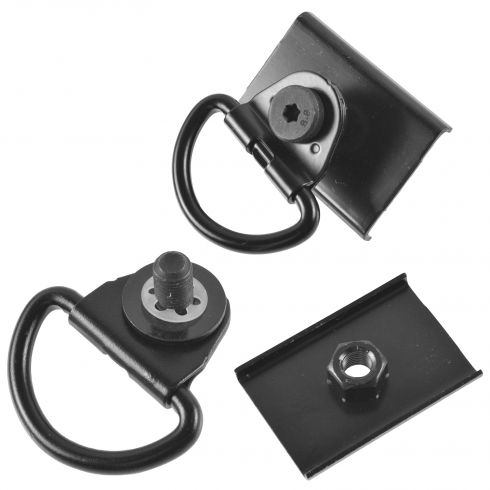 05-14 Toyota Tacoma Bed Mounted D-Ring Tie Down w/Holder Plate & Instruction Sheet PAIR (Toyota)
