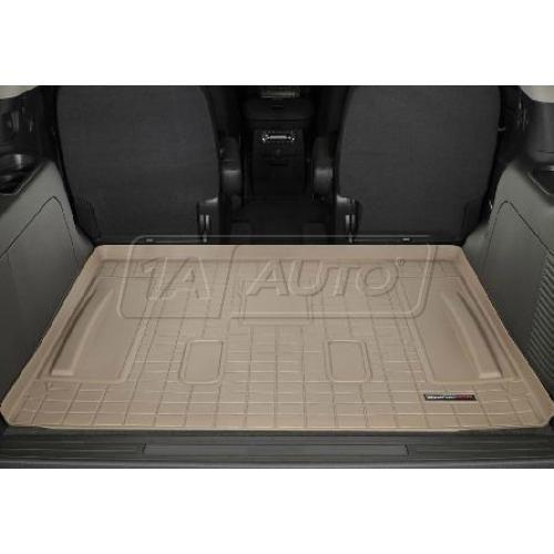 Cadillac Escalade 3rd Row Seats: Cargo Floor Liner Tan WeatherTech 41306