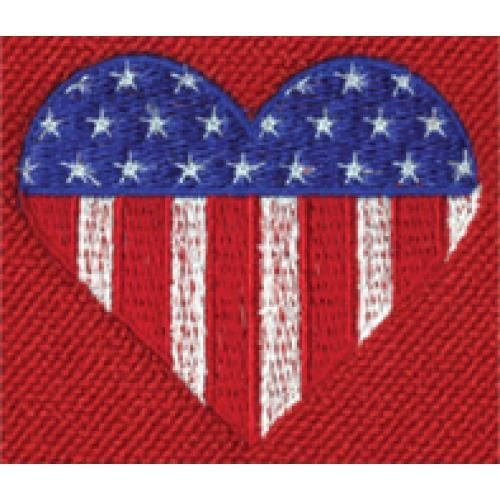 US Flag Heart Logo